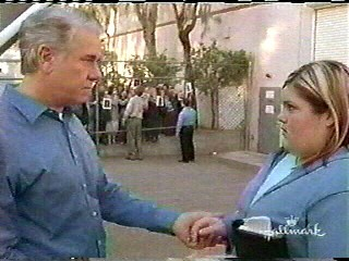 Lindsay with John Larroquette . . .