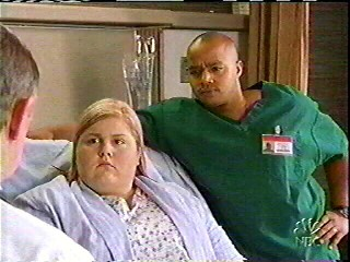 "Lindsay with Donald Faison in ""Scrubs"" . . ."